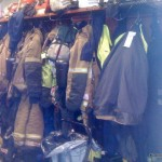 Firemens gear hanging up