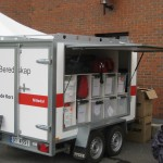 Red Cross emergency response trailer
