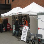 Red Cross Tent at Emergency Services open day