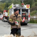 110 can spray fire extinguisher demonstration